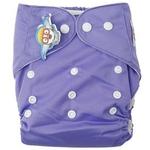 婴秀纯色按扣布尿裤(紫色)