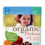 贝拉米有机水果营养磨牙棒-苹果桔子味