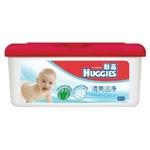 好奇清爽洁净婴儿柔润湿巾80抽盒装