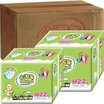 小淘气超薄纸尿片M 22片 18包/箱