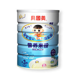 贝因美3段三文鱼+胡萝卜营养米粉