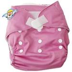 婴秀纯色魔术贴布尿裤(粉色)