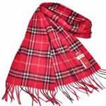 恒源羊绒羊毛加厚保暖男士长围巾礼盒装SFBX180-85小巴格红色
