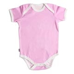 babyglow贝若星体温检测婴儿服粉色内衣0-3个月