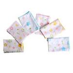 贝贝利安甜甜星单面纯棉方巾(6条装)BA5171