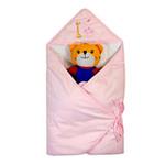 睡王小鹿小象去郊游精梳棉粉色包巾
