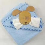 安香态卡通包头浴巾搓澡组-蓝色