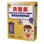 贝因美 果蔬宝多维营养米粉2段225g
