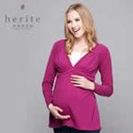 珂莉蒂花园美式休闲孕哺两用上衣811W-2003紫红色210M