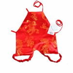 花儿开绸缎带脚肚兜604(红色73/48cm)