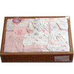 竹篓四方礼盒6件套-粉色