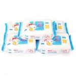 飘漾婴儿柔湿巾(卫生抑菌型四送一装)125片