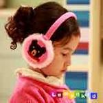 lemonkid小熊耳罩粉色