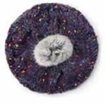 lemonkid彩色麻花帽紫色