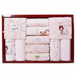GUGA(咕嘎)纯棉四季款12件套宝宝婴幼儿礼盒282黄色均码0-12个月