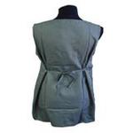 优加百分之五十彩色银纤维防电磁辐射月牙领孕妇裙YF020蓝灰L