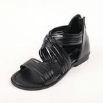 兔仔唛TUZAMA大女童新款罗马水钻公主凉鞋黑色35码