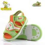 哈利宝贝夏款软底童鞋宝宝鞋透气防滑B103橙色16码/鞋子内长130mm