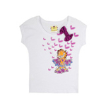 加菲猫女童针织挽袖T恤GTWE055401亮丽白120