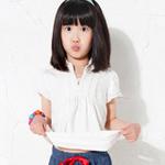 童壹库女童针织短袖T恤KTWF025201白色150