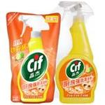 晶杰厨房强效清洁剂(活力青橘)+补充袋装(500g+400g)