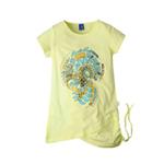 派克兰帝女童短袖T恤LTWD35412黄绿120