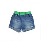 派克兰帝女童彩色腰口牛仔短裤LFZE045401活力绿130