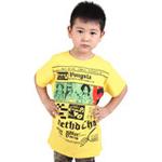 雪精灵男童短袖T恤X1-72110黄色/140
