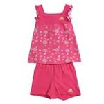 阿迪达斯adidasw45269女婴童夏日套装超群粉/尊贵黄98