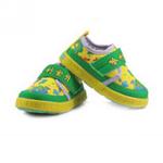 哈利宝贝防滑软底/婴儿鞋/棉布鞋B518绿色17码/鞋垫实长135mm