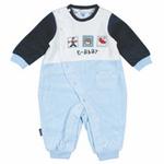 E-baby如意宝贝泰迪假期侧开连身衣E113441浅蓝/73