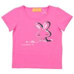红蜻蜓摩登田园系列短袖T恤52720499玫红色/140
