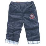 E-baby如意宝贝曲棍小将保暖灯芯绒长裤E115202丈青/80