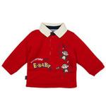 E-baby如意宝贝探险小英雄保暖polo衫E115156大红/80