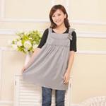 利乃康100%银纤维孕妇装防辐射马夹170/92AXL(UBC-3309)灰色
