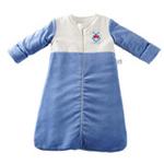 琪凯宝宝天鹅绒系列男婴睡袋长袖款115076蓝色90cm