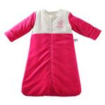 琪凯宝宝天鹅绒系列女婴睡袋长袖款115075红色90cm