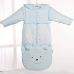 睡王可爱的小熊宝宝精梳棉造型成长款婴幼儿睡袋(蓝色)