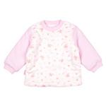 E-baby如意宝贝滑冰派克保暖匹印半高领上衣E115141浅粉/73