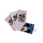 Disney迪士尼米奇/米妮三件组宝宝/儿童袜(三双装)粉色16/18cm