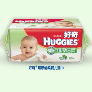 好奇超厚倍柔婴儿湿巾80片