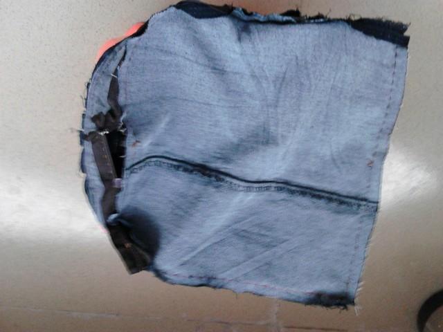 旧牛仔裤改造小背包