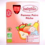 法国Babybio伴宝乐袋装混合纯果泥(苹果/梨/桃)