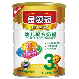 伊利金领冠幼儿配方奶粉3段900g