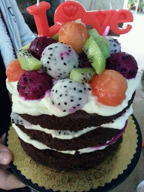 宝宝一周岁生日蛋糕是我自己做的