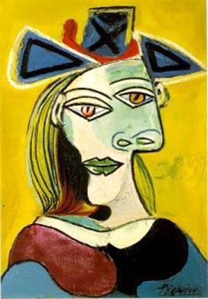 毕加索的抽象画作品