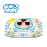 顺顺儿进口新生儿婴儿手口专用湿巾宝宝湿纸巾夏日装限量版80抽盖装湿巾
